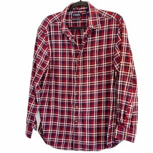🌷2/$25🌷 Chaps Plaid Brushed Flannel Cotton Shirt